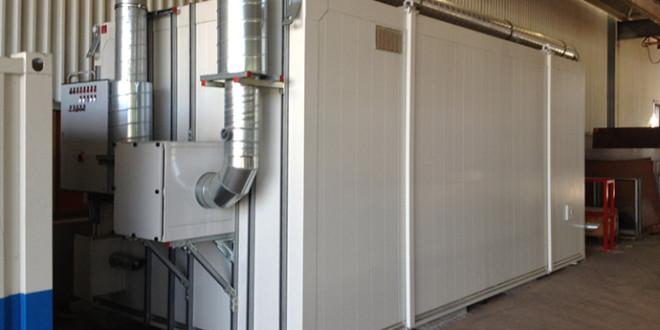 DENIOS realizza per Siemens una camera di miscelazione vernici all'interno di un deposito antincendio