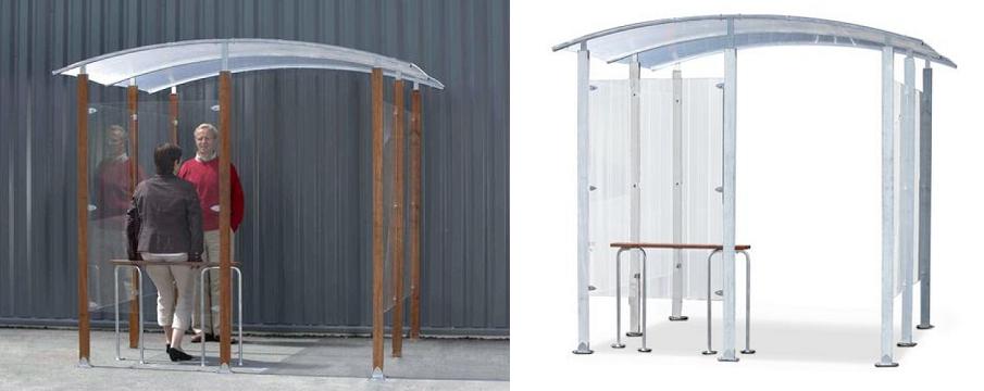 A sinistra la versione con telaio in legno, a destra la versione in acciaio zincato