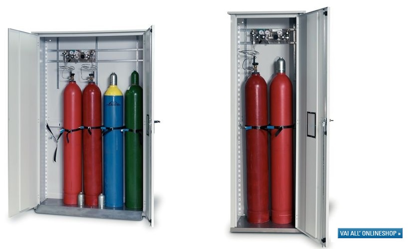 stoccaggio di bombole di gas: consigli per stoccare correttamente