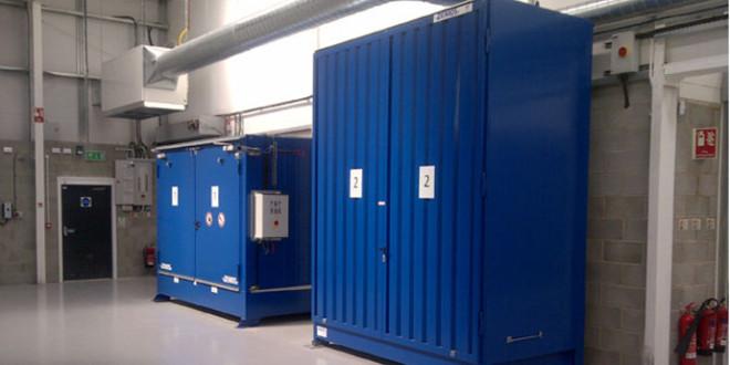 Soluzione comprendente tre container con protezione antincendio per Yanco