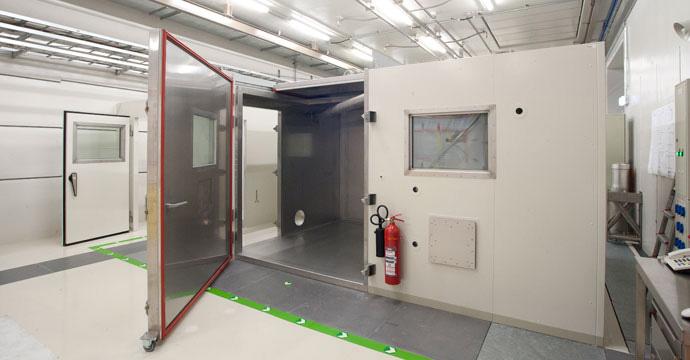 Locale di decontaminazione realizzato per l'Università di Monaco