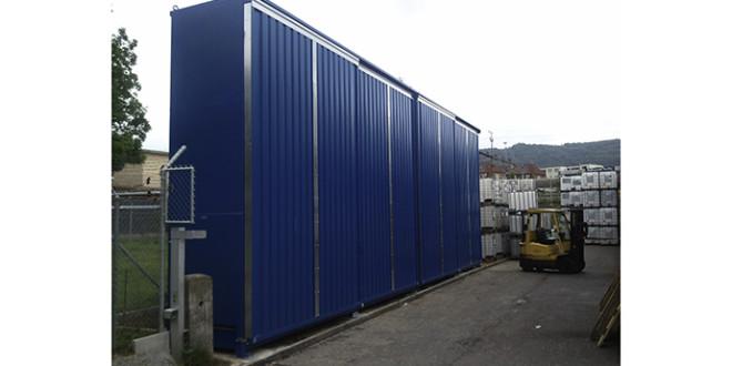 Impianto per lo stoccaggio di cisternette per Hydrior AG a Wettingen