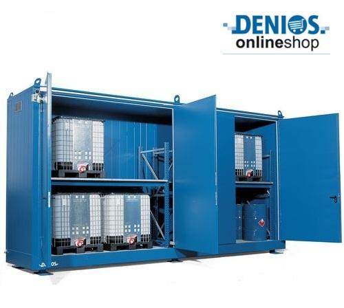 Il deposito FBM plus 61420 è l'ideale per la conservazione di soda caustica stoccata in cisternette e/o fusti da 200 litri