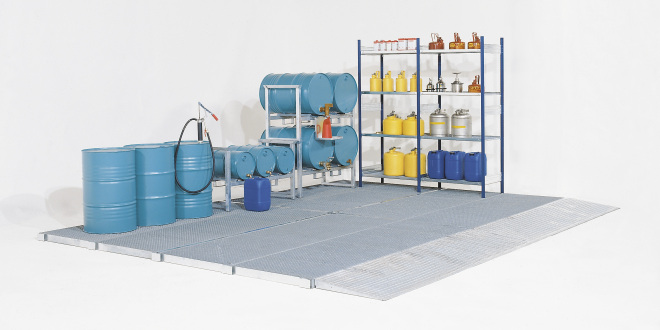 Come realizzare vere e proprie aree di stoccaggio con i sistemi di pavimentazione DENIOS