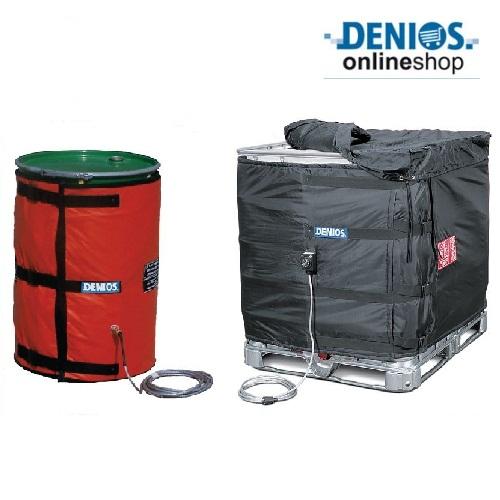 Fasce di riscaldamento per fusti e/o cisternette consentono di portare il liquido alla temperatura necessaria per la lavorazione industriale