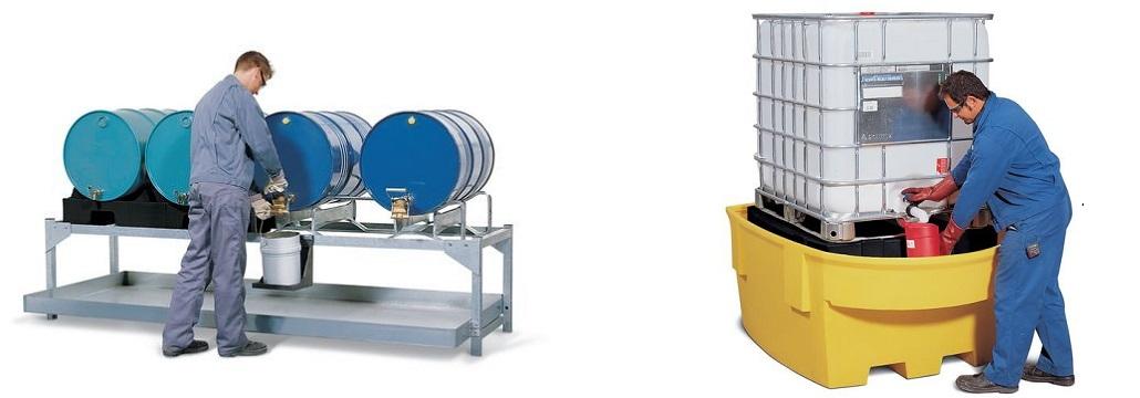 Stazioni di travaso - per fusti da 200 litri e cisternette da 1.000 litri